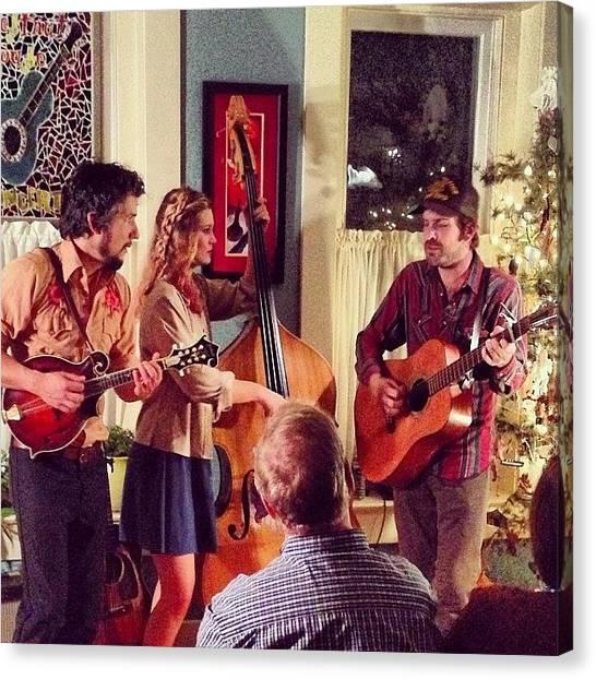Mandolins Canvas Print - The Tanasi Ramblers #livemusic by Renee Ellis