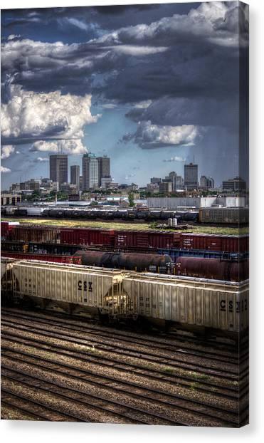 Manitoba Canvas Print - The Tracks by Bryan Scott
