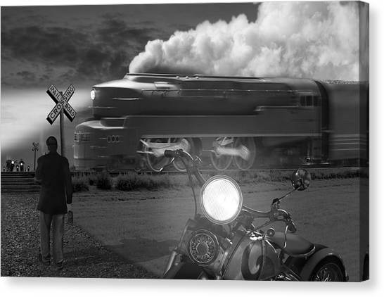 White Horse Canvas Print - The Wait by Mike McGlothlen
