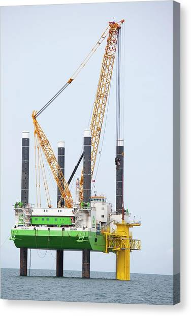 Clean Energy Canvas Print - The Walney Offshore Wind Farm by Ashley Cooper