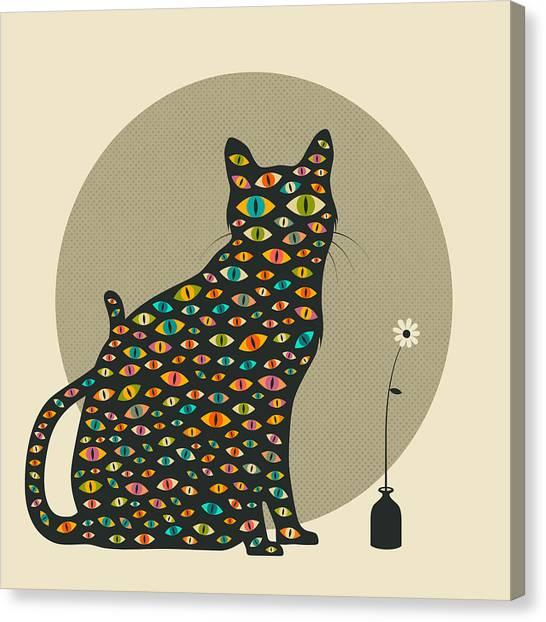 Pop Art Canvas Print - The Watcher by Jazzberry Blue