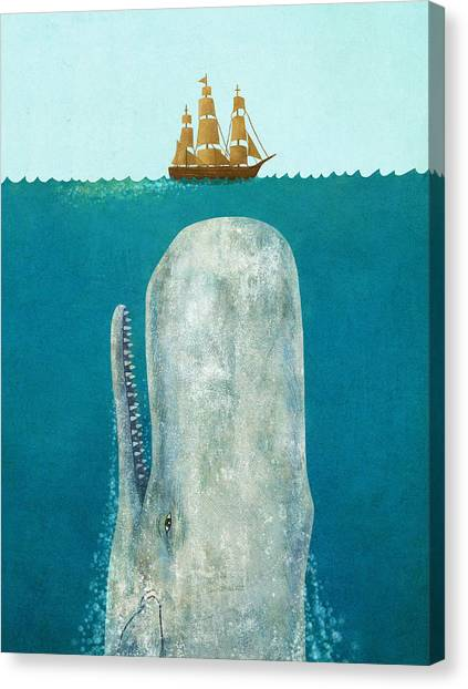 Ocean Animals Canvas Print - The Whale  by Terry  Fan
