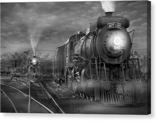 Locomotive Canvas Print - The Yard by Mike McGlothlen