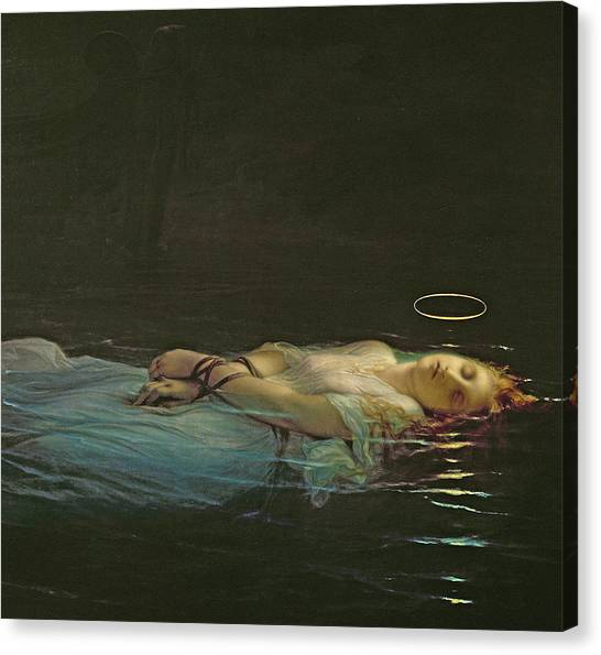 Floating Girl Canvas Print - The Young Martyr by Hippolyte Delaroche