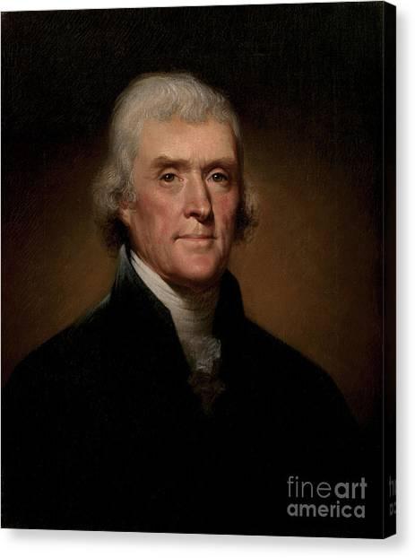 Thomas Jefferson Canvas Print - Thomas Jefferson by Rembrandt Peale