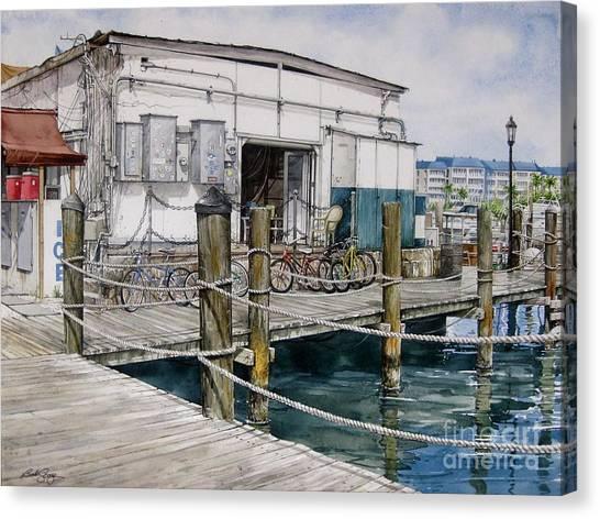 Thompson's Docks  Canvas Print