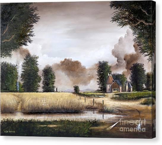 Through The Cornfield Canvas Print