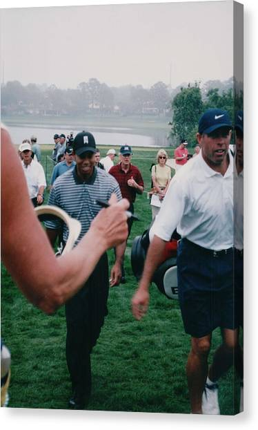 Tiger Woods Canvas Print - Tiger Woods 2003 Bay Hill Invitational by Lisa Travis