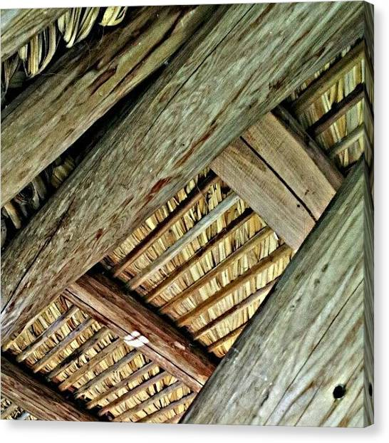 Everglades Canvas Print - Tiki Hut / Roof by Elisa Franzetta