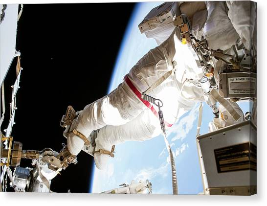 Emu Canvas Print - Tim Kopra's Spacewalk by Nasa