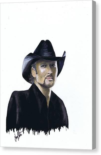 Tim Mcgraw Canvas Print