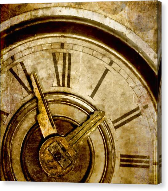 Back To The Future Canvas Print - Time Travel by Carol Leigh