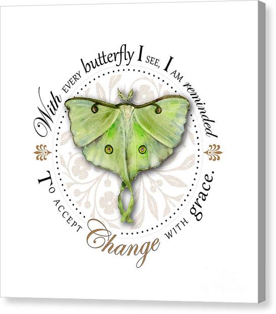 Luna Canvas Print - To Accept Change With Grace by Amy Kirkpatrick
