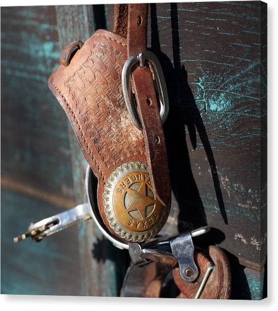 Texas Rangers Canvas Print - To Serve And Protect by Bill Morgenstern