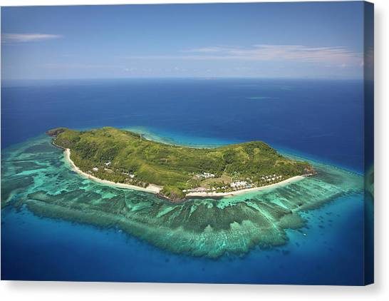 Fiji Canvas Print - Tokoriki Island, Mamanuca Islands by David Wall