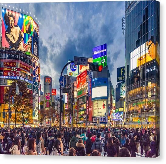 Tokyo Canvas Print - Tokyo Japan Shibuya Crossing by Cory Dewald