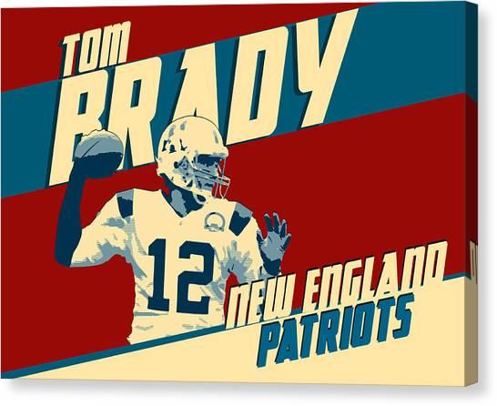 Joe Montana Canvas Print - Tom Brady by Zapista