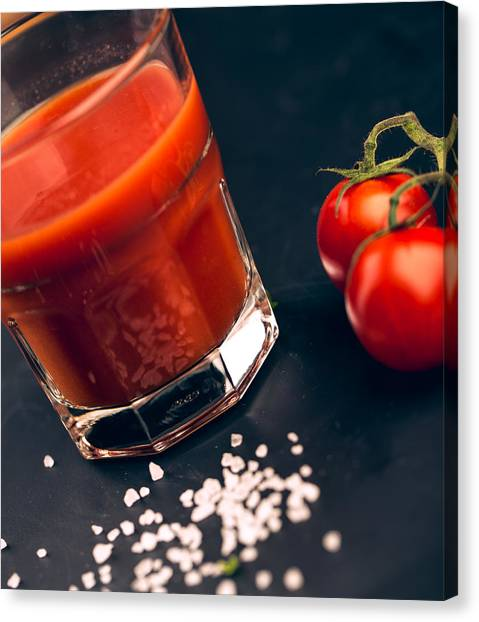 Tomato Canvas Print - Tomato Juice by Nailia Schwarz