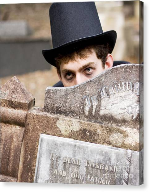 Undertaker Canvas Print - Tomb Stone Peek A Boo by Jorgo Photography - Wall Art Gallery
