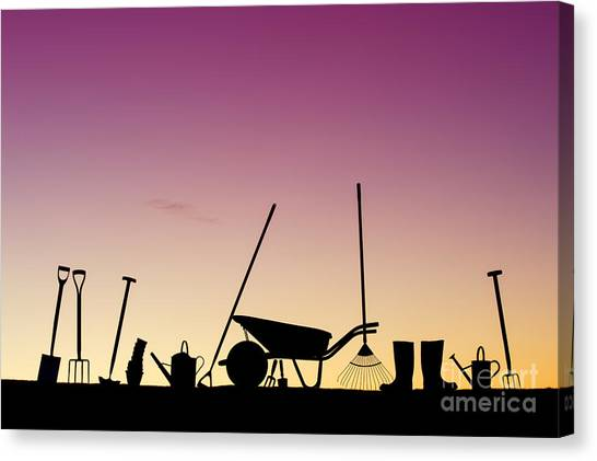 Garden Canvas Print - Tools Of The Trade by Tim Gainey