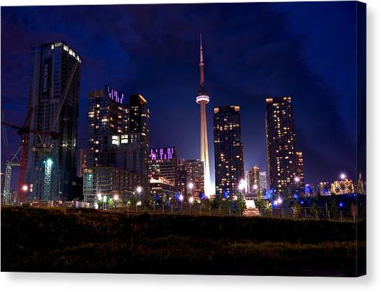 Toronto By Night Canvas Print