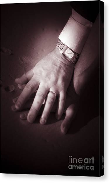 Bridal Canvas Print - Touching Wedding Moment by Jorgo Photography - Wall Art Gallery