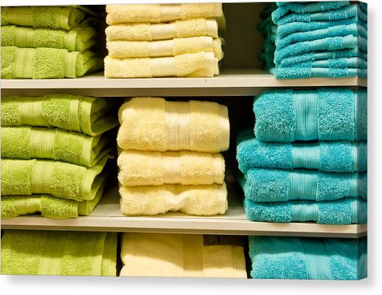 Selection Canvas Print - Towels by Tom Gowanlock