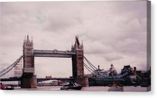 Tower Of London Canvas Print - Tower Bridge London England by Lisa Travis