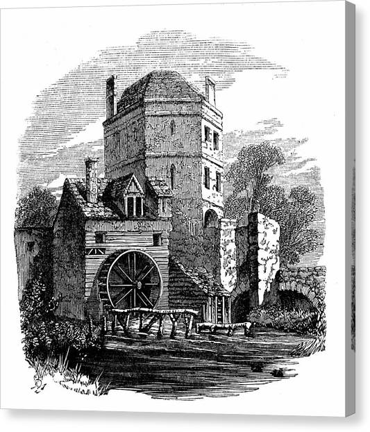 Bacon Canvas Print - Tower Of Franciscan Friary by Universal History Archive/uig