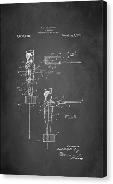 Toy Soldier Patent 1921 Canvas Print