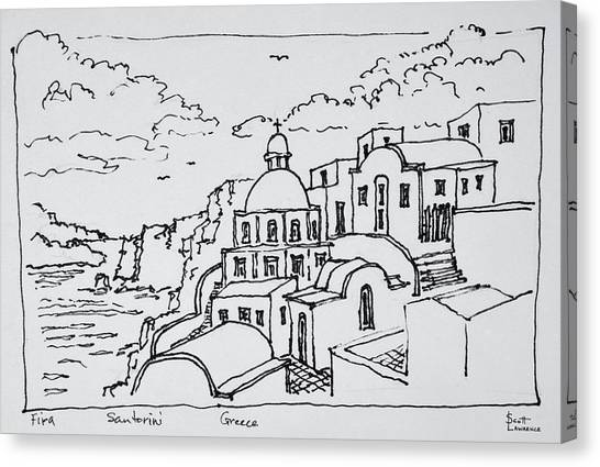 Scotty Canvas Print - Traditional Greek Architecture by Richard Lawrence