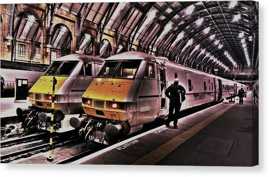 Drake Canvas Print - Train At London Kingscross Station by Chris Drake