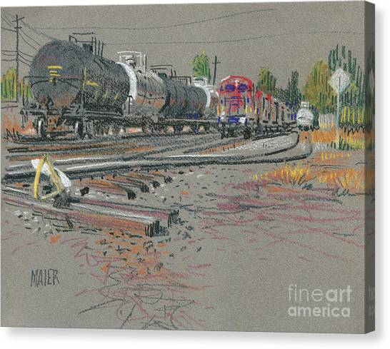 Train Canvas Print - Train's Coming by Donald Maier