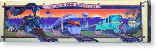 Trains Of Pine Mountain Canvas Print