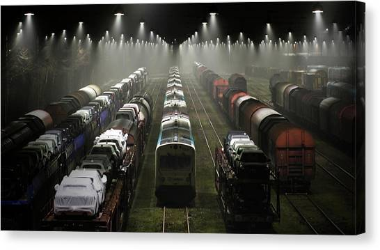 Trainsets Canvas Print by Leif L?ndal