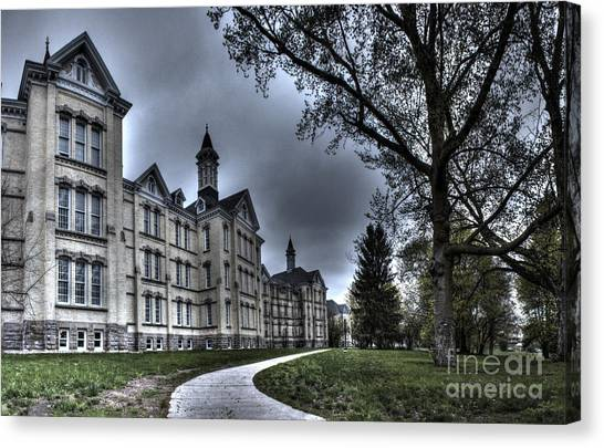 Northern Michigan Canvas Print - Traverse City State Mental Hospital by Twenty Two North Photography