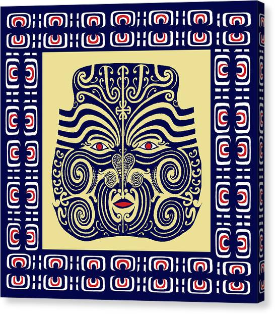 Marquesas Tribal Spirits Canvas Print