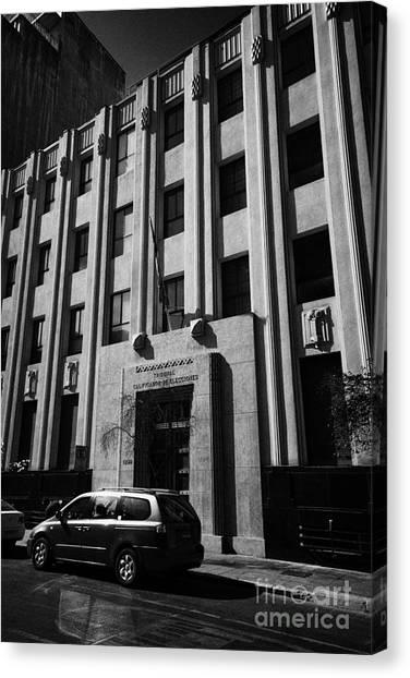 tribunal calificador de elecciones electoral court of chile Santiago Chile Canvas Print by Joe Fox