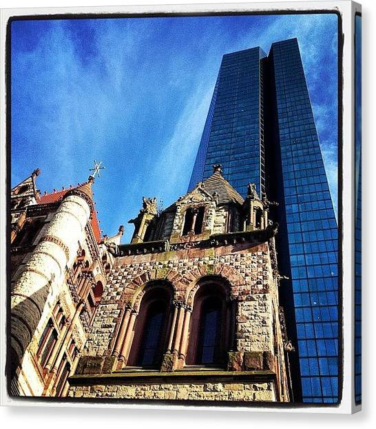 Massachusetts Canvas Print - #trinitychurch #boston #bostonusa by Joann Vitali
