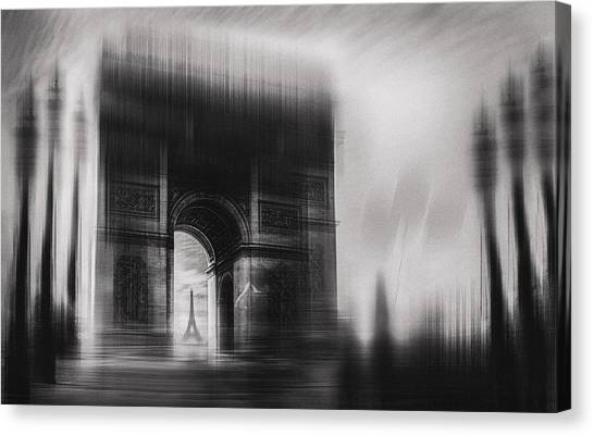 Eiffel Tower Canvas Print - Triumphal Arch by Oussama Mazouz