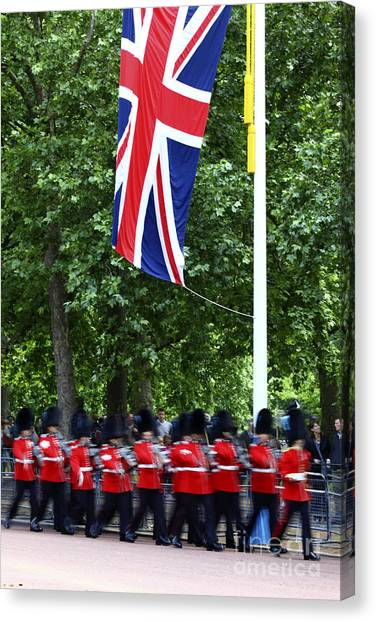 Royal Guard Canvas Print - Trooping The Colour by James Brunker
