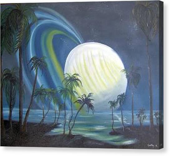 Tropical Moon Canvas Print