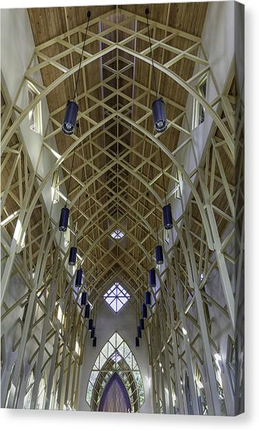 Trussed Arches Of Uf Chapel Canvas Print