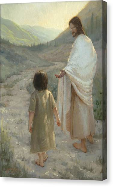 Boy And Girl Canvas Print - Trust In The Lord by James L Johnson