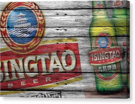 Beer Can Canvas Print - Tsingtao by Joe Hamilton
