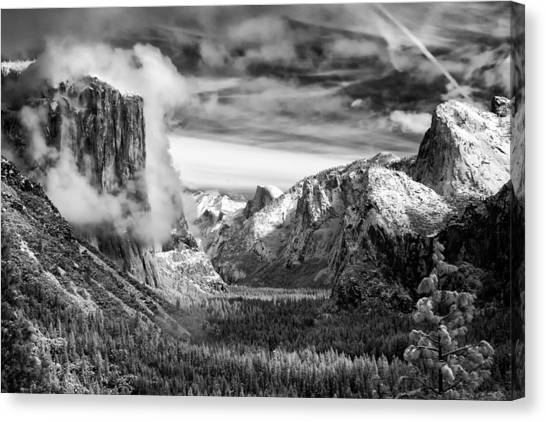 Ansel Adams Canvas Print - Tunnel View In Yosemite by Alexis Birkill