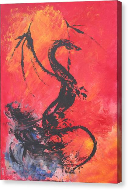 Turbulent Dragon Canvas Print