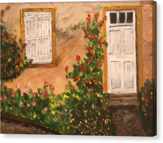 Tuscan Door Canvas Print