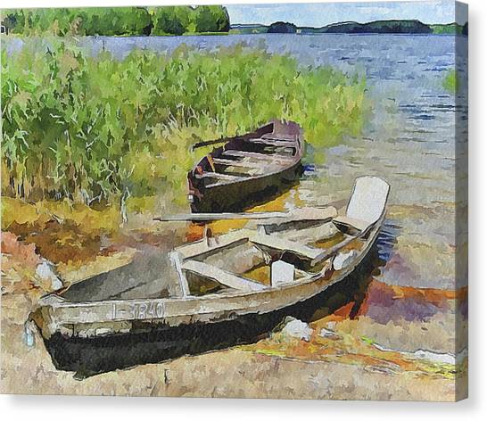 Two Boats Canvas Print by Yury Malkov