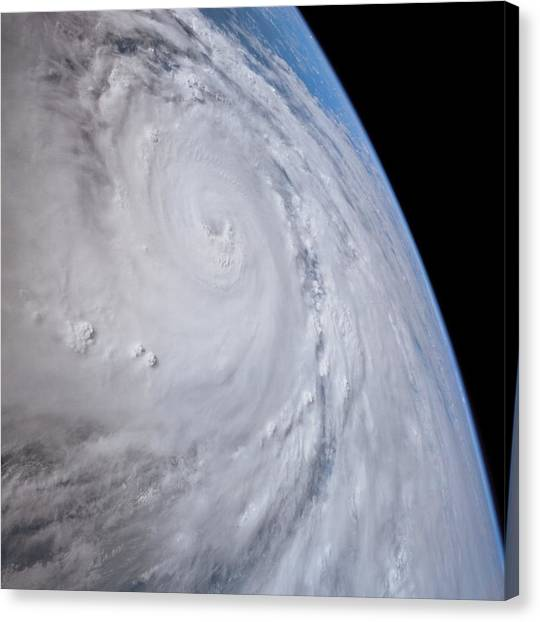 Cyclones Canvas Print - Typhoon Saomai by Nasa/science Photo Library